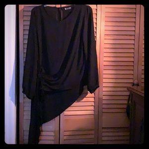 NY&CO black Asymmetrical Blouse..M